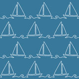 无缝的船舶绳索样式 库存例证