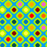无缝的色的正方形几何样式 库存图片