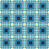 无缝的艺术蓝色几何形状葡萄酒样式样式背景 向量例证