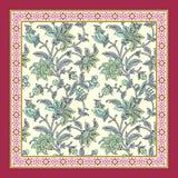 无缝的花卉围巾设计 向量例证