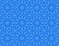 无缝的花卉圈子样式蓝色 库存例证