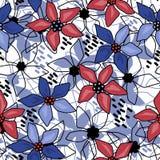无缝的花卉抽象样式白色 库存照片