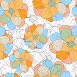 无缝的花卉无缝的重复样式 库存例证