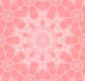 无缝的花卉样式桃红色白色 库存例证