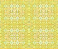 无缝的花卉样式橙色绿色 皇族释放例证