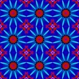 无缝的花卉样式红色蓝色紫罗兰 向量例证