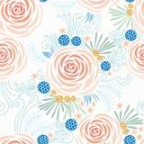 无缝的花卉样式,牡丹 免版税库存照片
