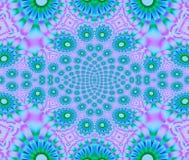 无缝的花卉样式紫罗兰色蓝绿色 库存例证