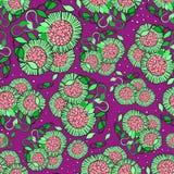 无缝的花卉样式 免版税库存图片