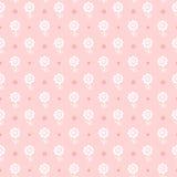 无缝的花卉模式。 花为女孩构造。 免版税库存图片