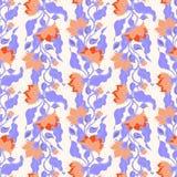 无缝的花卉模式 免版税库存图片
