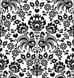 无缝的花卉波兰民间样式- Wycinanki, Wzory Lowickie 免版税库存照片