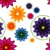 无缝的花卉背景或样式 免版税库存照片