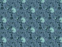无缝的花卉背景纺织品 免版税图库摄影