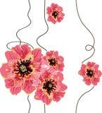 无缝的花卉背景设计 免版税库存照片