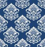 无缝的花卉锦缎模式 库存图片