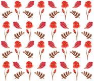 无缝的花卉水彩装饰品 库存照片