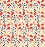 无缝的花卉水彩装饰品 免版税图库摄影