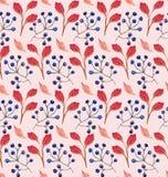 无缝的花卉水彩装饰品 向量例证