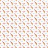 无缝的花卉sheels样式墙纸 免版税库存图片