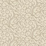 无缝的花梢传染媒介花卉墙纸 向量例证