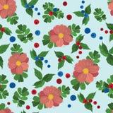 无缝的花纹花样 也corel凹道例证向量 免版税图库摄影
