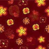 无缝的花纹花样 向量背景 免版税图库摄影