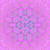 无缝的花饰桃红色紫罗兰色绿色 向量例证