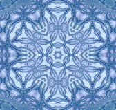 无缝的花饰蓝灰色 向量例证