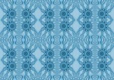 无缝的花饰蓝灰色 皇族释放例证