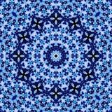 无缝的花饰蓝色紫色 向量例证