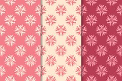 无缝的花饰 桃红色的垂直的背景 免版税库存图片