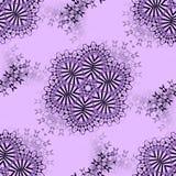 无缝的花饰黑色银灰色紫色 向量例证