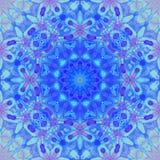 无缝的花饰紫色紫罗兰色蓝色 向量例证
