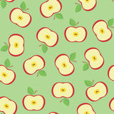 无缝的苹果 图库摄影