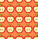 无缝的苹果 皇族释放例证