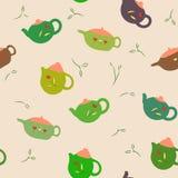 无缝的茶壶样式 免版税库存图片