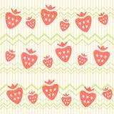 无缝的草莓 免版税库存图片