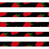 无缝的草莓 免版税库存照片