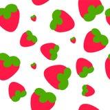 无缝的草莓 库存照片