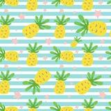 无缝的菠萝样式 库存图片