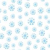 无缝的落的雪花 向量例证