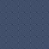 无缝的葡萄酒几何线葡萄酒蓝色背景样式 免版税库存图片