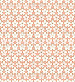 无缝的葡萄酒桃红色和金黄概述樱花花纹花样背景 免版税图库摄影