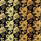 无缝的葡萄酒花卉样式。 免版税库存照片