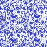 无缝的蓝色样式 库存照片