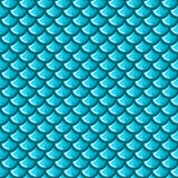 无缝的蓝色河鱼鳞 皇族释放例证