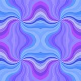 无缝的蓝色波浪条纹样式 几何抽象的背景 免版税库存图片