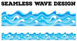 无缝的蓝色波浪设计 向量例证