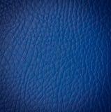 无缝的蓝色皮革纹理 免版税库存照片
